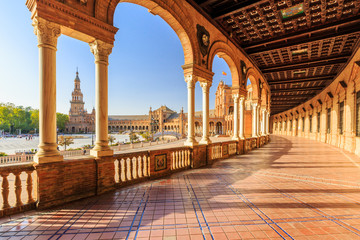 Seville, Spain. Spanish Square (Plaza de Espana) Wall mural