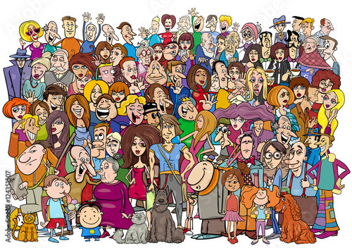 """cartoon people in the crowd"" Stock image and royalty-free ..."