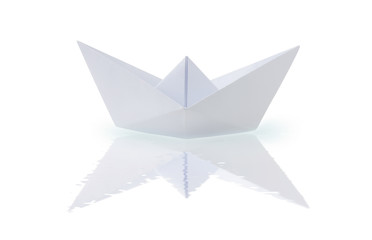 Origami paper ship
