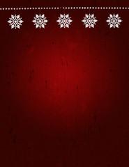 Holiday: Grunge Christmas Snowflake Background
