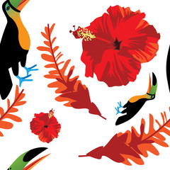 Hawaiian Aloha seamless pattern. EPS 10 vector.