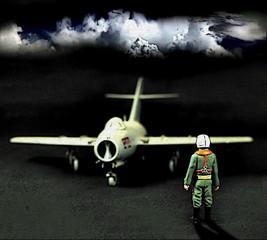 Jet pilot / photo art