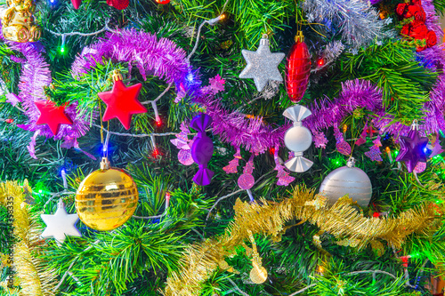 Sapin de no l d cor stock photo and royalty free images for Sapin de noel decore