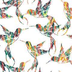 Modèle sans couture tropical avec oiseau.