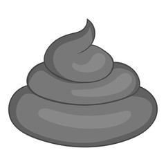 Turd icon. Gray monochrome illustration of turd vector icon for web