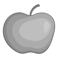 Apple icon. Gray monochrome illustration of apple vector icon for web