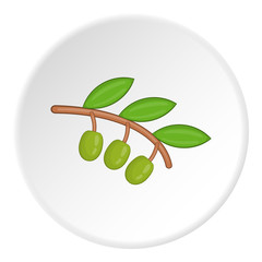 Sprig of olive icon. Cartoon illustration of sprig of olive vector icon for web