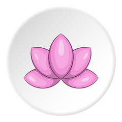 Lotus flower icon. Cartoon illustration of lotus flower vector icon for web