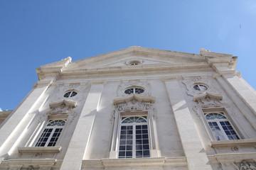 Lisbonne, contre ^plongée de l'hotel de ville