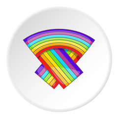 LGBT flag icon. Cartoon illustration of LGBT flag vector icon for web