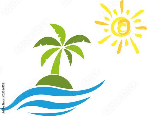Insel, Sonne, Palme, Tropical island\