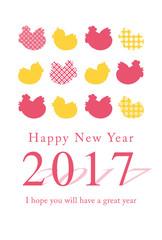 2017年酉年の年賀状背景素材