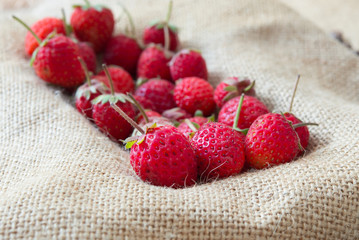 strawberry on sack backgrounds
