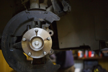 Braking system of machine in service station