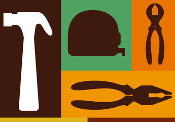 6 Tool Silhouette Icons