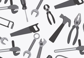 Grayscale Tools Icon Pattern