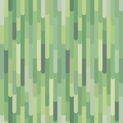 Vertical green stripes vector seamless pattern. Abstract organic forest background texture. Decorative design element for print, fabric, card, banner, cover, invitation, website, wallpaper. Eps 8