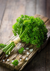 Fresh organic parsley