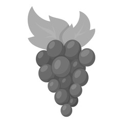 Grapes icon monochrome. Singe fruit icon from the food monochrome.