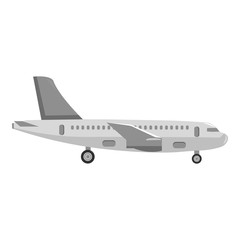 Airplane icon of vector illustration for web and mobile