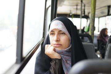 Beautiful Iranian Muslim woman on the street