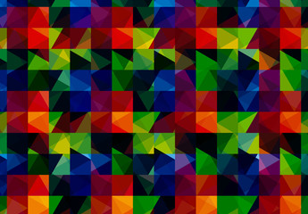 Multicolored Polygonal Pattern 1