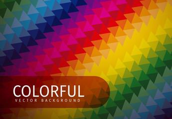 Dark Tone Multicolored Polygonal Pattern 1