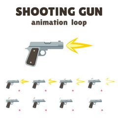 Gun shoot animation