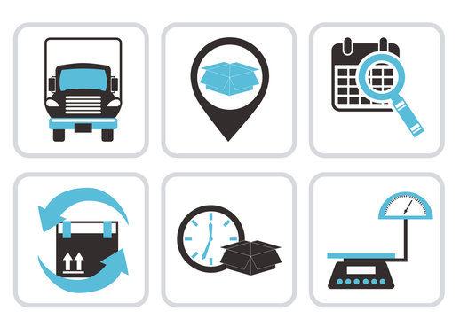 9 Two-Tone Shipping and Freight Icons