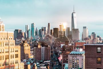 Elevated view of Manhattan, New York City