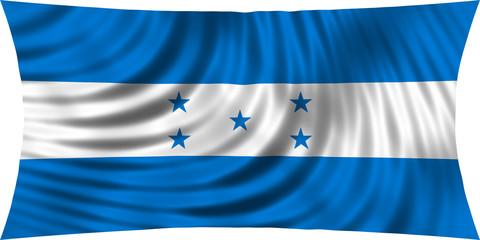 Flag of Honduras waving isolated on white