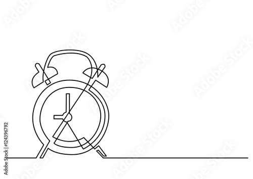 Line Drawing Clock : Quot continuous line drawing of alarm clock stock image and