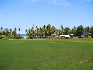 School playing field, Yasawa, Fiji