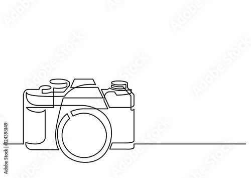 Line Art Camera : Quot continuous line drawing of retro photo camera stock