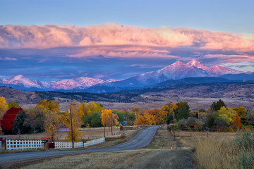 Long's Peak Sunrise on a Fall Morning Wall mural