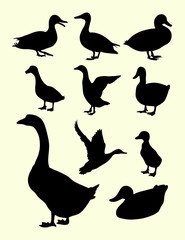 duck silhouette, good use for symbol, logo, web icon, mascot, sign, or any design you want