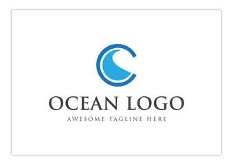 Letter OC - Ocean wave - Eye of Ocean