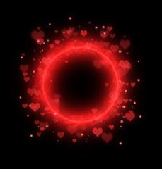 valentines day round frame