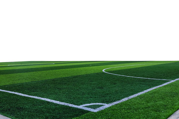 Corner football field background