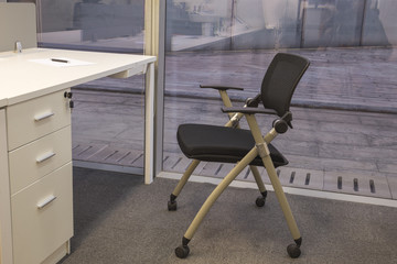 One chair in office