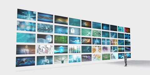 Video Screens Wall