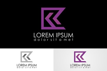 letter R,K logo vector