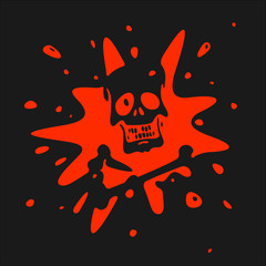 The symbol of the skull and blood Vector Illustration