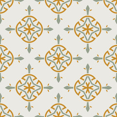 Seamless vector pattern design made in old vintage style