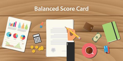 balance score card concept illustration