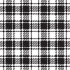 Black white check plaid texture seamless pattern