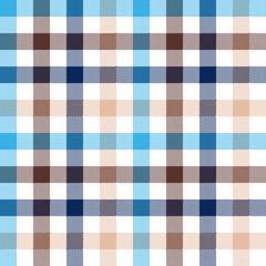 Blue beige check seamless fabric texture