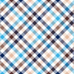 Blue beige diagonal check shirt seamless fabric texture