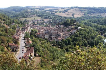 Village médiéval de Caylus en Tarn et Garonne.