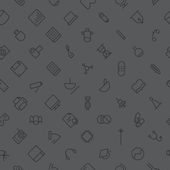 Seamless background pattern for technology and science